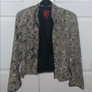 JS Collections Vintage Black and Creme Jacket - 12
